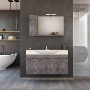 Έπιπλο μπάνιου Senso 105 Wood & Granite Κρεμαστό