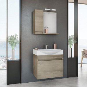 Έπιπλο μπάνιου Senso 65 Wood & Granite Κρεμαστό