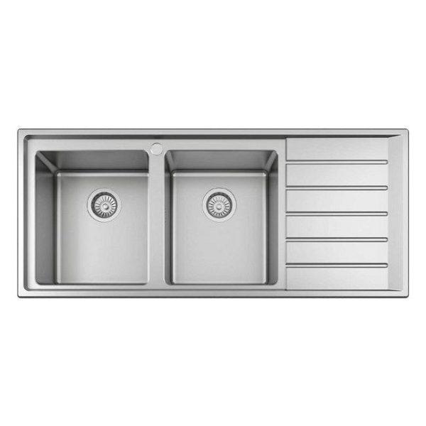 Ανοξείδωτος Νεροχύτης Κουζίνας Σατινέ BL 658 116x50