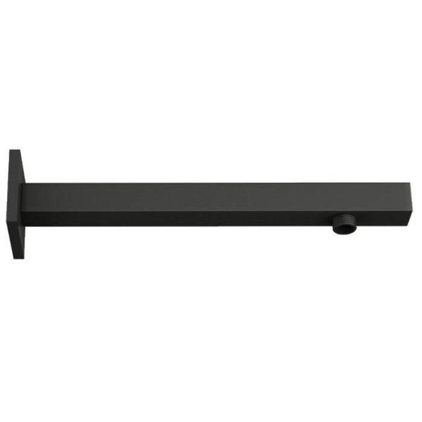 ORABELLA Industrial Οριζόντιος Τετράγωνος Βραχίονας Ντουζ Μαύρος Ματ 30 cm