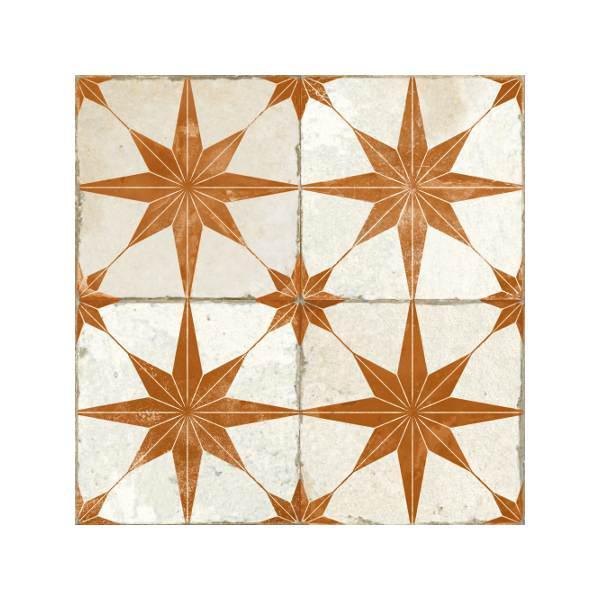 FS Star Oxido Πλακάκι Patchwork Vintage με Αστέρια 45x45