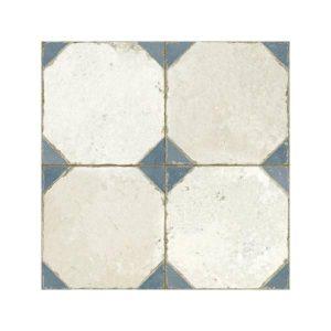 FS Yard Blue Vintage Patchwork Πλακάκι με Σχέδια