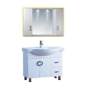 Έπιπλο Μπάνιου LONG LIFE Λευκό PVC 80 cm