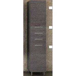 Στήλη μπάνιου Side Dark Grey Επιδαπέδια με Καλάθι