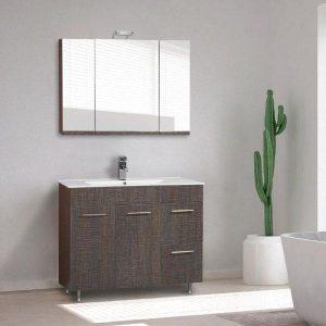 Καλλιστώ Μοντέρνο Έπιπλο Μπάνιου με Συρτάρια & Καθρέφτη 100χ45