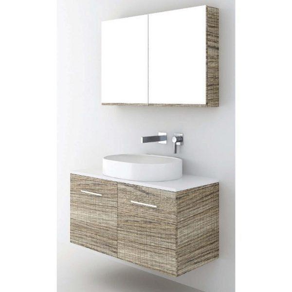 ΣΕΤ Έπιπλο Μπάνιου Solid Surface 100 2 Πόρτες σε 6 Αποχρώσεις