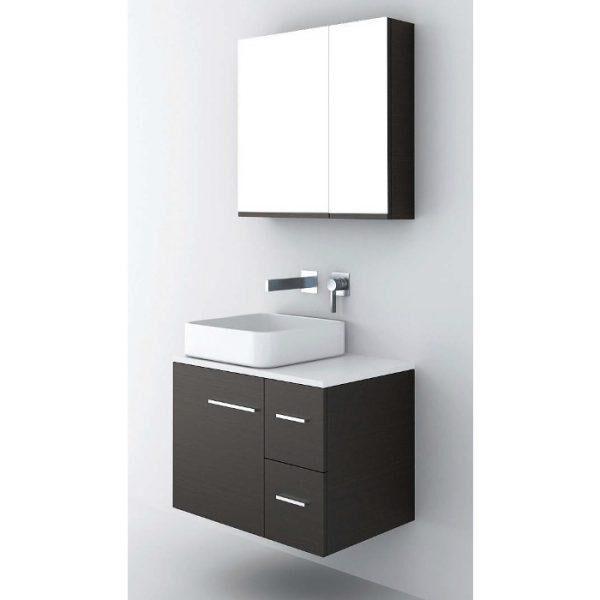 ΣΕΤ Έπιπλο Μπάνιου Solid Surface 70 1 Πόρτα 2 Συρτάρια σε 6 Αποχρώσεις
