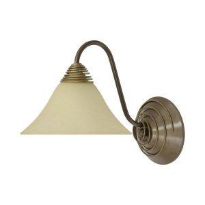 Nowodvorski 2994 Κλασσικό Χρυσό Φωτιστικό Απλίκα Τοίχου με Γυάλινο Καπέλο Κώνο