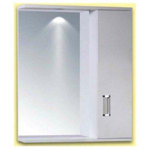 Καθρέφτης Μπάνιου FINO 1 Λευκός με 1 ντουλάπι PVC 62cm