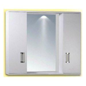 Καθρέφτης Μπάνιου FINO 2 Λευκός με 2 ντουλάπια PVC 72cm