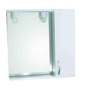Καθρέφτης Μπάνιου SANY-1 Λευκός με 1 ντουλάπι MDF 58cm