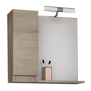 Drop Senso PL Wood 65 Καθρέφτης Μπάνιου με Ντουλάπι 60χ65
