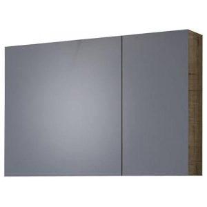 Drop Luxus PL Wood 85 Καθρέφτης Μπάνιου με 2 Πόρτες 75χ50 cm