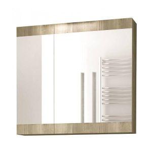 Drop Magnolia Gold Oak 60 Καθρέφτης Μπάνιου με Κρυφοντούλαπο 2 Πόρτες