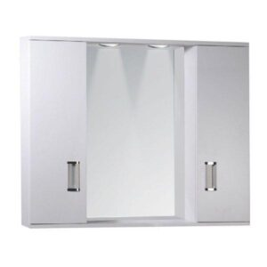 FINO 2-PLUS Καθρέφτης Μπάνιου με 2 Ντουλάπια & Φως LED Λευκός PVC 78