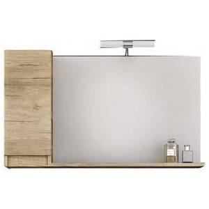 Drop Senso PL Wood 105 Καθρέφτης Μπάνιου με Ντουλάπι 100χ65 cm