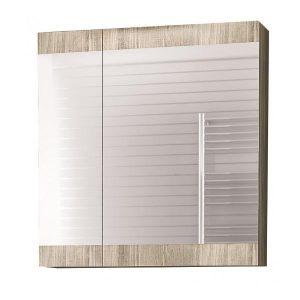 Drop Magnolia Gold Oak 55 Καθρέφτης Μπάνιου με Κρυφό Ντουλάπι 2 Πόρτες 55χ55