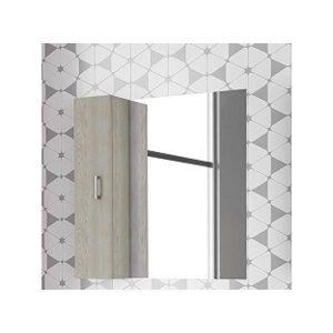 Drop Alba Brown 80 Καθρέφτης Μπάνιου με Ντουλάπι 80χ80 cm