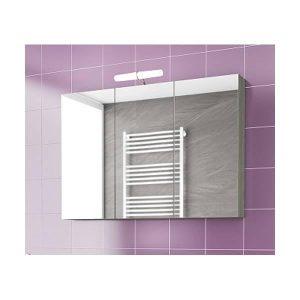 Drop Alba Brown 100 Καθρέφτης Μπάνιου με Κρυφό Ντουλάπι 3 Πόρτες 97x68