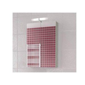 Drop Alba Brown 55 Καθρέφτης Μπάνιου με Κρυφό Ντουλάπι + 2 Πόρτες