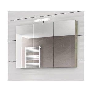 Drop Alba Elm Wood 100 Καθρέφτης Μπάνιου με Κρυφό Ντουλάπι 3 Πόρτες 97x68