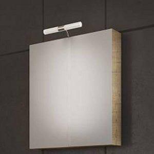 Drop Luxus PL Wood 60 Καθρέφτης Μπάνιου με Κρυφό Ντουλάπι 55x55 cm