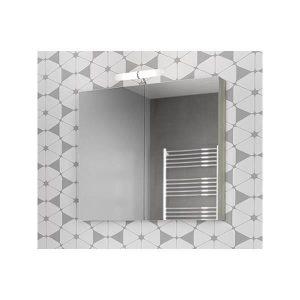 Drop Alba Brown 80 Καθρέφτης Μπάνιου με Κρυφό Ντουλάπι + 2 Πόρτες 77x68