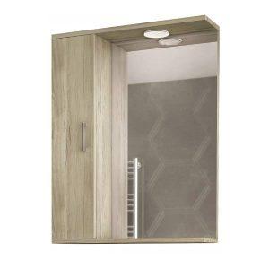 Drop Alba Elm Wood 55 Καθρέφτης Μπάνιου με Ντουλάπι & Φωτισμό Led 48x75 cm
