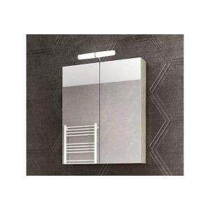 Drop Alba Elm Wood 65 Καθρέφτης Μπάνιου με Κρυφό Ντουλάπι + 2 Πόρτες 57x68