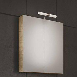 Drop Luxus PL Wood 70 Καθρέφτης Μπάνιου με 2 Πόρτες 60χ68 cm