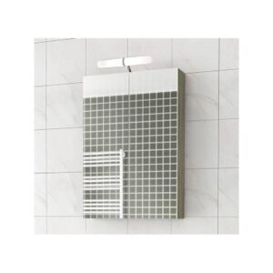 Drop Alba Elm Wood 55 Καθρέφτης Μπάνιου με Κρυφό Ντουλάπι+2 Πόρτες 57x68 cm