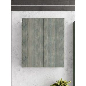 Drop Smoked Oak Κρεμαστό Ντουλάπι Πλυντηρίου Γκρι Σταχτί 60x32x70