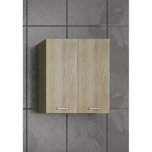 Drop Elm Wood Κρεμαστό Ντουλάπι Πλυντηρίου Μπεζ 60x32x70