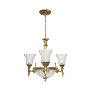 Nowodvorski Pireus 3376 Vintage Χρυσό Κρεμαστό Φωτιστικό Πολυέλαιος 6 Φώτα