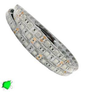 Αδιάβροχη LED Ταινία Πράσινη 5 Μέτρα 14,4 Watt/m 12 Volt