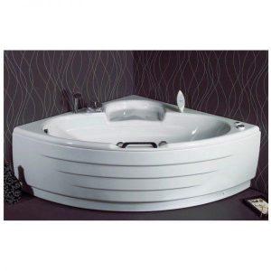 MARINA Sanitec Ακρυλική Λευκή Γωνιακή Μπανιέρα 140χ140