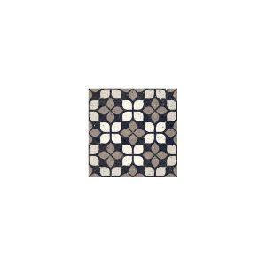 Del Conca Frammenti Fiore Διακοσμητικό Πλακάκι Μωσαϊκό Μαύρο Ματ 20χ20
