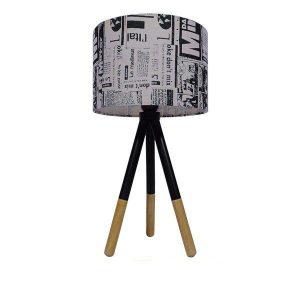 Magazine 01230 Επιτραπέζιο Φωτιστικό Εφημερίδα Ξύλινο Πορτατίφ