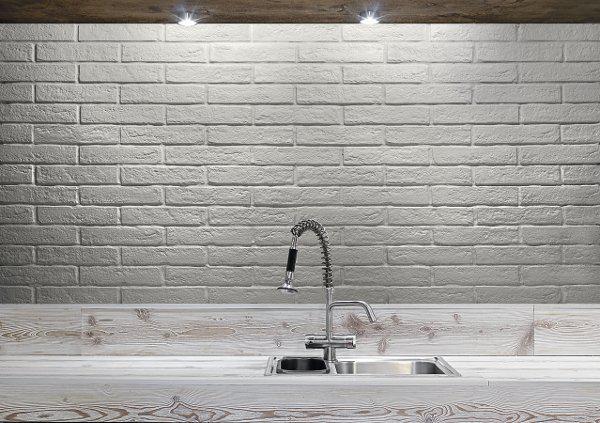 Επενδυση τοιχου σαγρε λευκο Bricks Blanco
