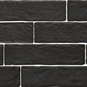 Πλακάκι Επένδυσης Τοίχου Muralla Μαύρο 7,5*28