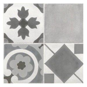 Πλακάκι Decorated Latina Γκρι 45*45