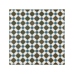 Henley Azul Vintage Patchwork Πλακάκι με Σχέδια 45x45