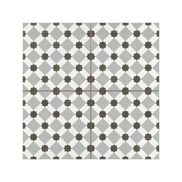 Henley Grey Vintage Patchwork Πλακάκι με Σχέδια