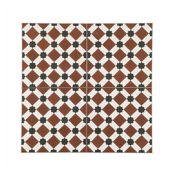 Henley Marron Vintage Patchwork Πλακάκι με Σχέδια 45x45