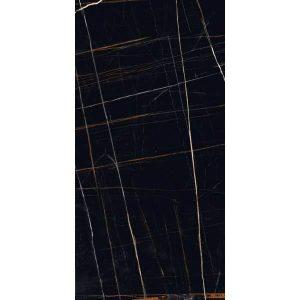 Forest Μεγάλο Πλακάκι Τύπου Καταρράκτη Μαύρο Γυαλιστερό 60x120