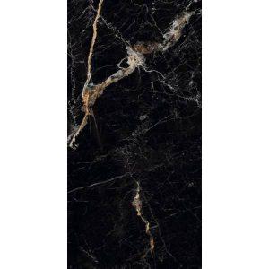 Viens Πλακάκι Τύπου Μάρμαρο Μαύρο Γυαλιστερό Μεγάλο 60x120