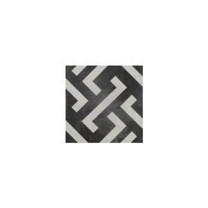 Signac Vintage Patchwork Πλακάκι Ματ Άσπρο Μαύρο με Σχέδια 22,3χ22,3