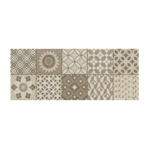 Πλακάκι Τοίχου Metropoli Decor Isole Brown 20x50