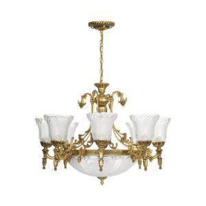 Nowodvorski Pireus 3380 Vintage Χρυσό Κρεμαστό Φωτιστικό Πολυέλαιος 11 Φώτα