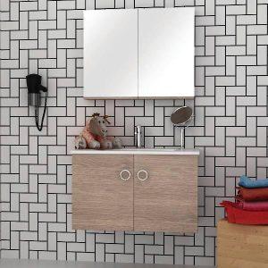 ΣΕΤ Έπιπλο Μπάνιου Κρεμαστό Shape 85 σε 6 Αποχρώσεις